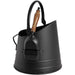 Black Coal Bucket with Teak Handle Shovel - Simply Utopia