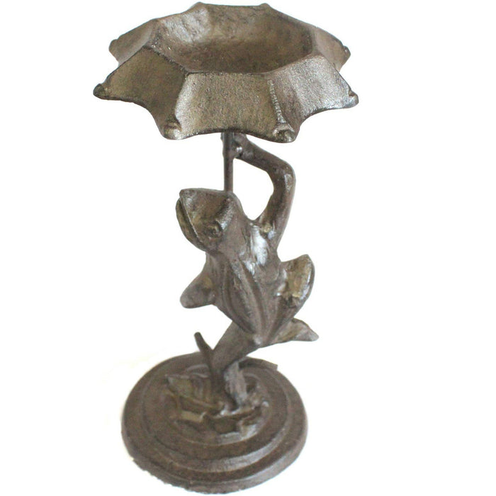 Cast Iron Bird Feeder - Frog - Natural - Simply Utopia