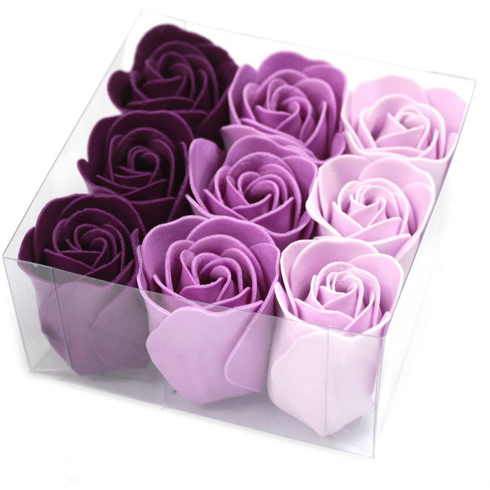 Set of 9 Soap Flower - Lavender Roses - Simply Utopia