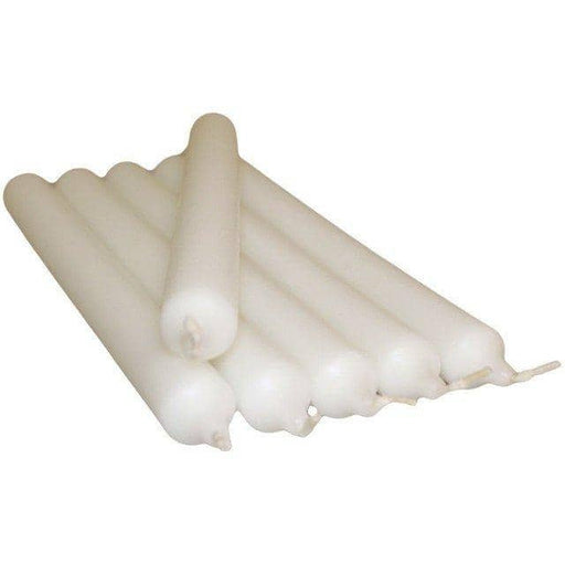 White Dinner Candles 10 Pack - Simply Utopia