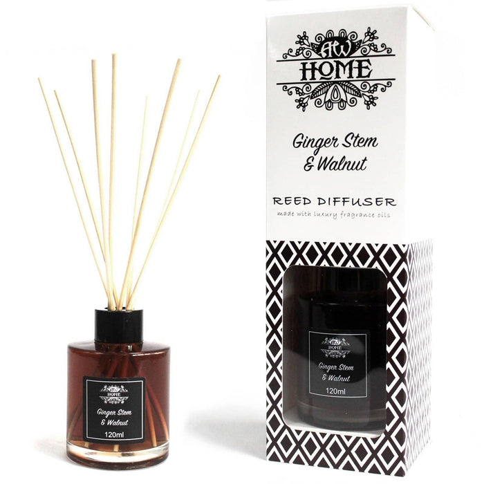 120ml Reed Diffuser - Ginger Stem & Walnut - Simply Utopia