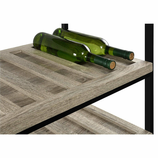 Elmwood Multi-Purpose Rolling Cart Distressed Grey Oak - Simply Utopia
