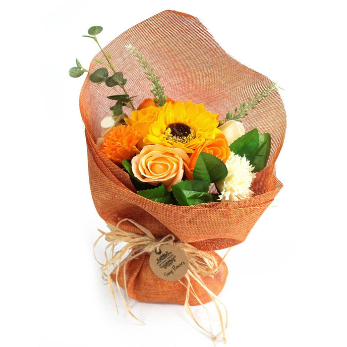 Standing Soap Flower Bouquet - Orange - Simply Utopia