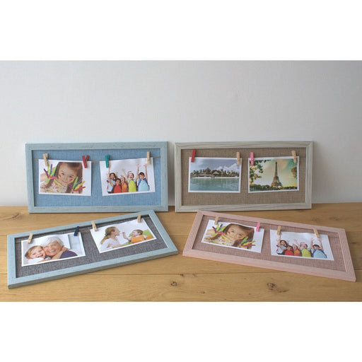 Mini Mini DIY Peg Photo Frames - Assorted Jute Colours - Simply Utopia