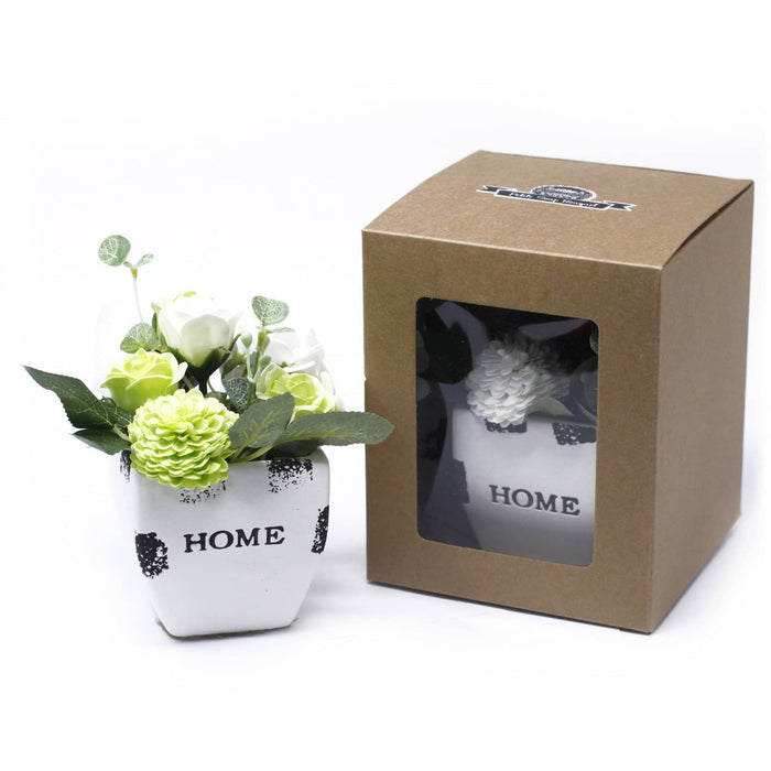 Bouquet Petite Gift Pot- Soothing Blues - Simply Utopia