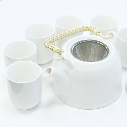 Herbal Teapot Set - Classic White - Simply Utopia