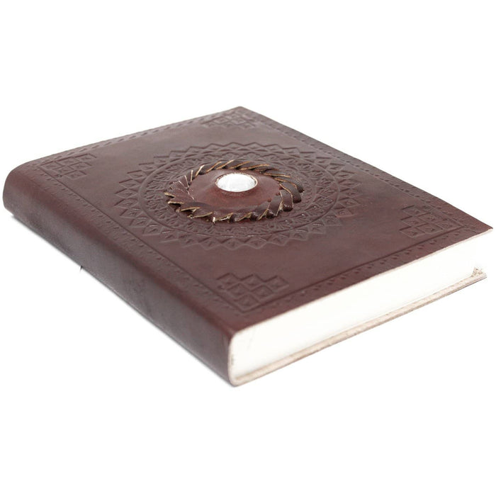 "Leather Moonstone Notebook (7x5"") - Simply Utopia"