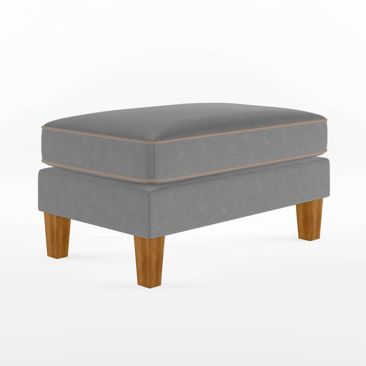 Bowen Ottoman With Contrast Welting - Simply Utopia