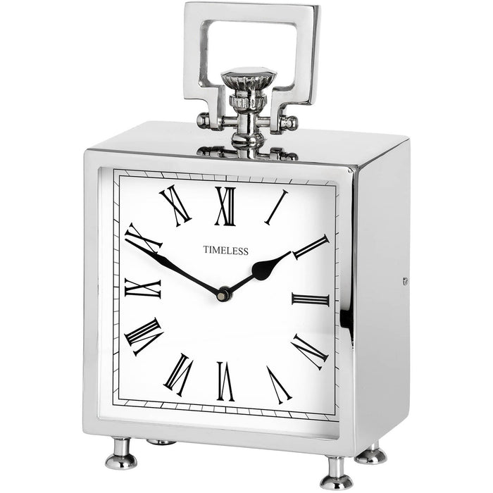 Square Nickel Table Clock - Simply Utopia
