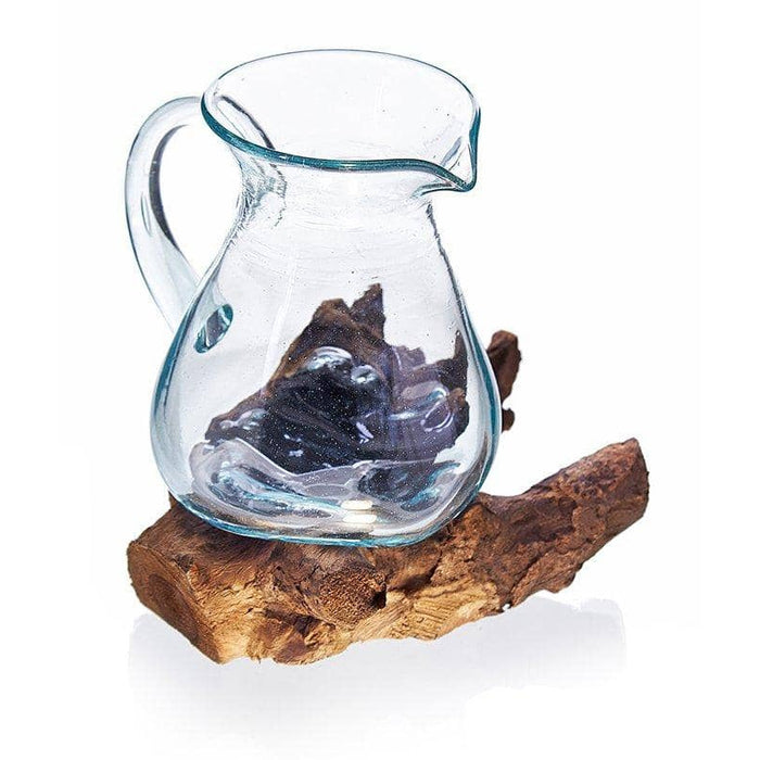 Molten Glass on Woos- Water Jug - Simply Utopia
