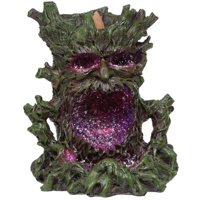 Crystal Green Man LED Backflow Incense Burner - Simply Utopia