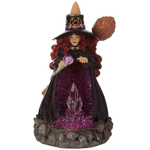 Witches Crystal Cave LED Backflow Incense Burner - Simply Utopia