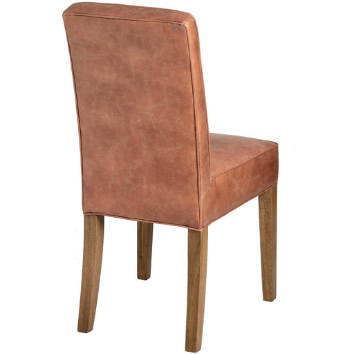 Tan Faux Leather Dining Chair - Simply Utopia