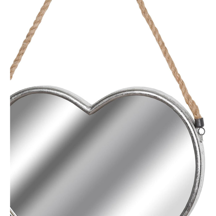 Set Of Two Heart Mirrors With Rope Detail - Simply Utopia
