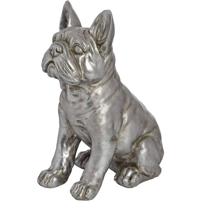 Antique Silver French Bull Dog - Simply Utopia