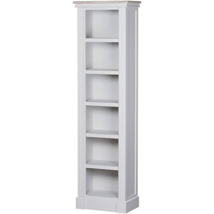 Liberty Collection Grey Finished Narrow Bookshelf With 5 Shelves - Simply Utopia