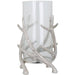 Polished Nickel Stag Antler Large Candle Holder - Simply Utopia