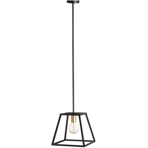Black And Brass Piped Pendant Light - Simply Utopia
