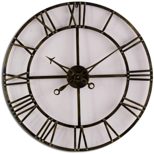Antique Brass Skeleton Clock - Simply Utopia