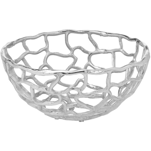 Ohlson Silver Perforated Coral Inspired Bowl Small - Simply Utopia