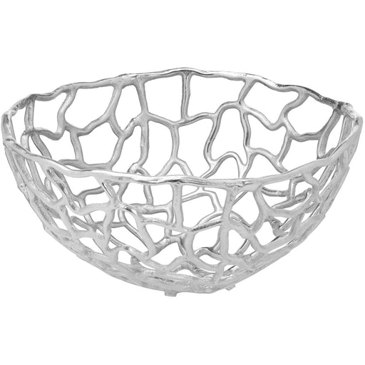 Ohlson Silver Perforated Coral inspired Bowl Large - Simply Utopia