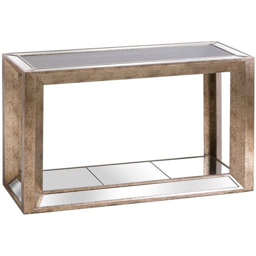 Augustus Mirrored Console Table with Shelf - Simply Utopia