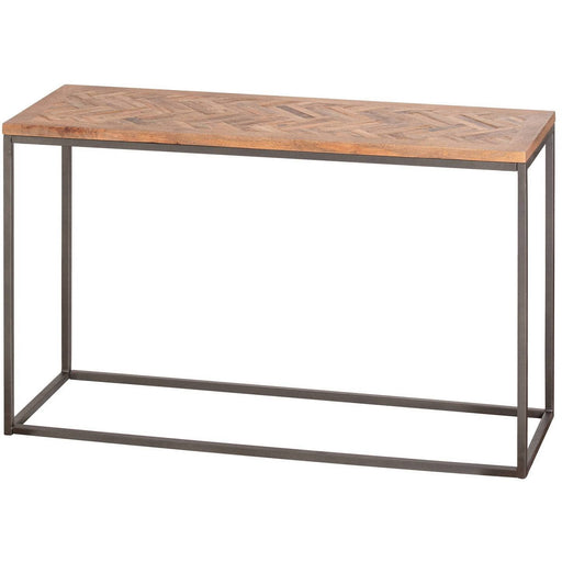 Hoxton Collection Console Table With Parquet Top - Simply Utopia