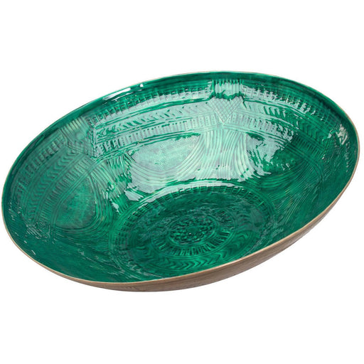Aztec Collection Brass Embossed Ceramic Dipped Bowl - Simply Utopia
