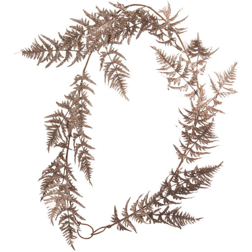 Antique Silver Faux Fern Garland - Simply Utopia