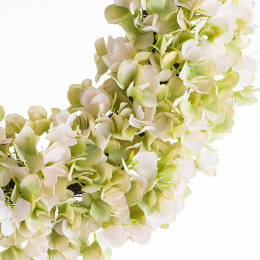 White Hydrangea Wreath - Simply Utopia