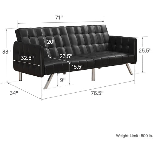 Emily Convertble Clic-Clac Sofa Bed - Simply Utopia