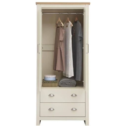 Lisbon 2 Piece Set (2 Door Wardrobe, 2 Drw Bedside) - Simply Utopia