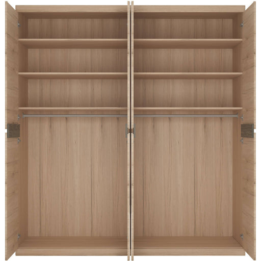 Kensington 4 Door Wardrobe with 2 Mirror doors - Simply Utopia