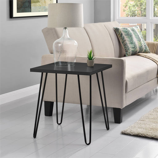 Owen Retro End Table With Black Hairpin Legs - Simply Utopia