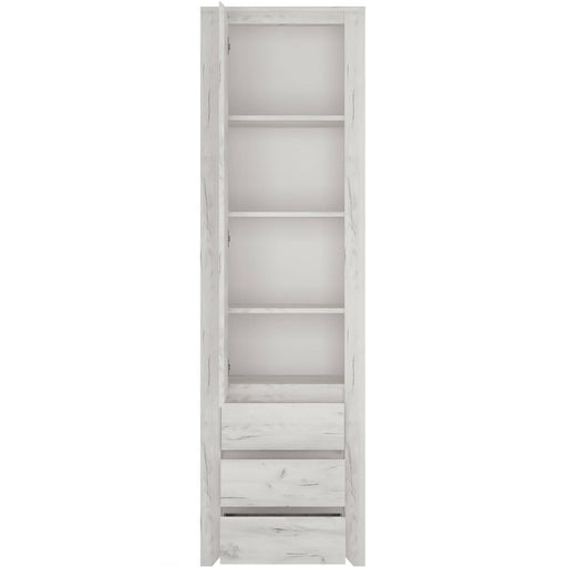 Angelic Tall Narrow One Door 3 Drawer Narrow Cupboard - Simply Utopia