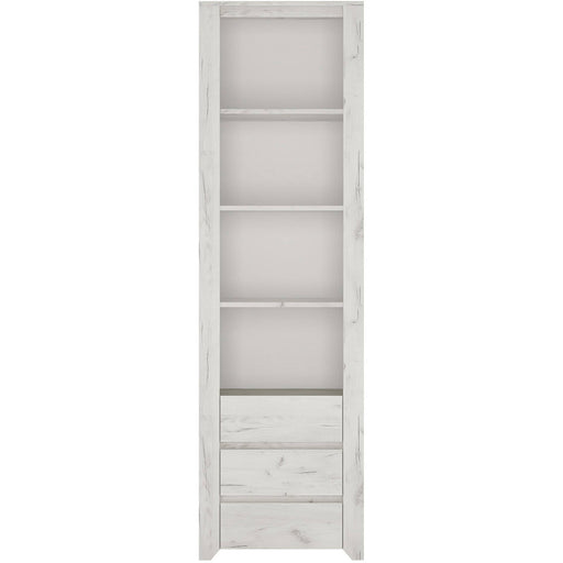 Angelic Tall Narrow 3 Drawer Bookcase - Simply Utopia
