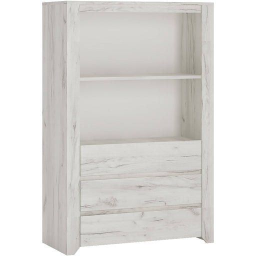 Angel 3 Drawer Cupboard with Open Shelf - Simply Utopia