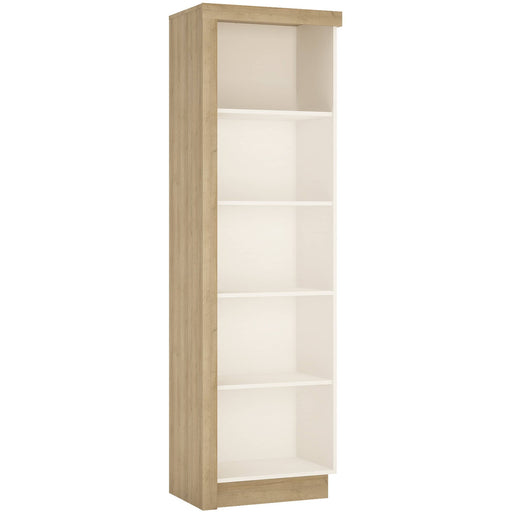 Lyon Bookcase (RH) in Riviera Oak/White High Gloss - Simply Utopia
