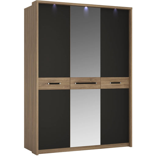 Monaco 3 door wardrobe with mirror door - Simply Utopia