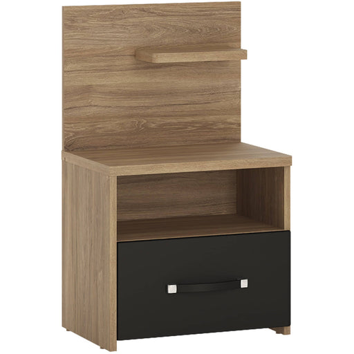 Monaco Bedside Cabinet With 1 Open Shelf And 1 Drawer - Simply Utopia