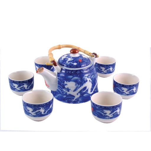 Double Dragon Porcelain Tea Set - Simply Utopia
