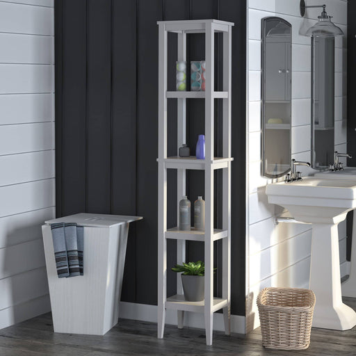 Franklin Elegant Style Storage Tower With 4 Shelves - Simply Utopia
