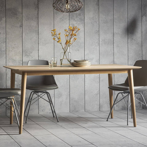 Milano Washed Oak Finish Dining Table - Simply Utopia