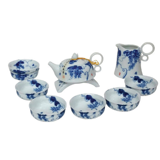 Blue and White Glory Porcelain Teaset - Simply Utopia