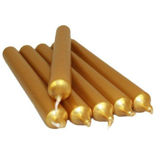 Gold Metallic Candles 5 Pack - Simply Utopia