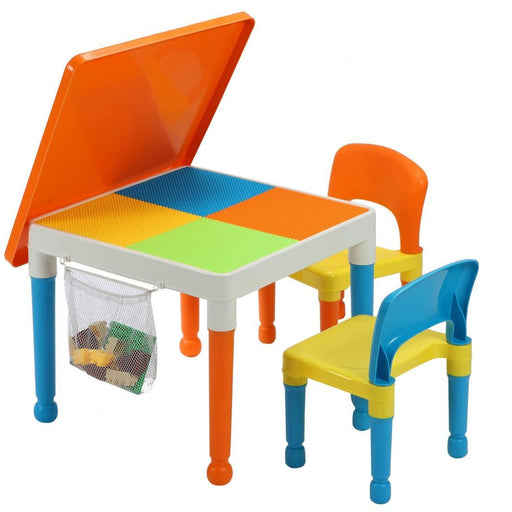 Childrens Table & Chair Set (Orange) - Simply Utopia