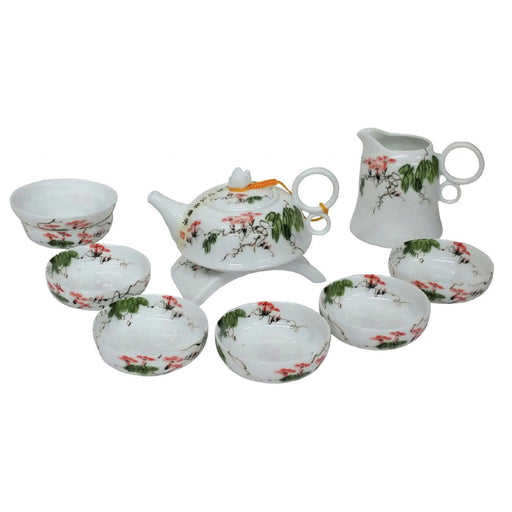 Flowering Morning Glory Porcelain Teaset - Simply Utopia