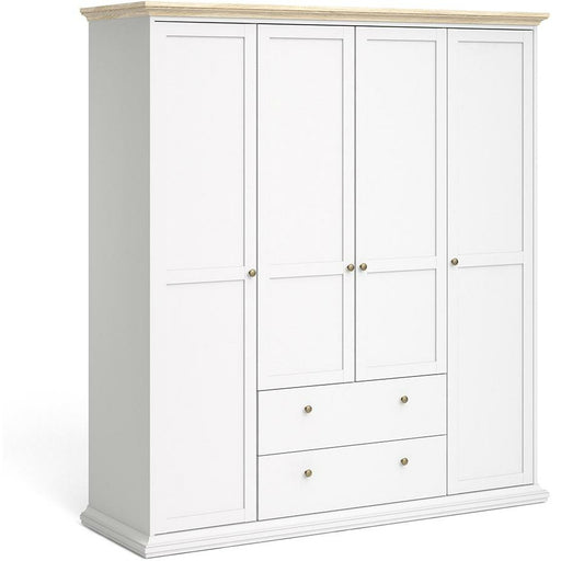 Paris Wardrobe with 4 Doors & 2 Drawers - Simply Utopia
