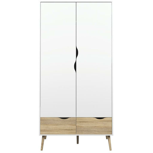 Oslo Wardrobe 2 Doors 2 Drawers - Simply Utopia