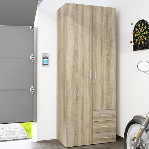 Space Wardrobe - 2 Doors 3 Drawers in Oak - Simply Utopia